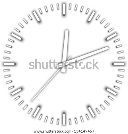vector illustration white clock - stock vector