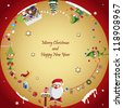 Vector illustration: Winter, Christmas, seasonal greeting card graphic design elements (Part 13) - stock vector