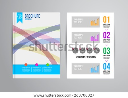 Vector Illustration with Abstract Geometric Background. Business Template for Flyer, Banner, Placard, Poster, Brochure Design. Technology Art - stock vector