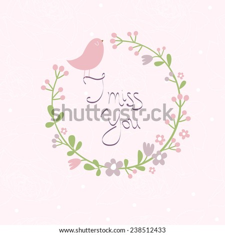 Vector illustration with bird - stock vector
