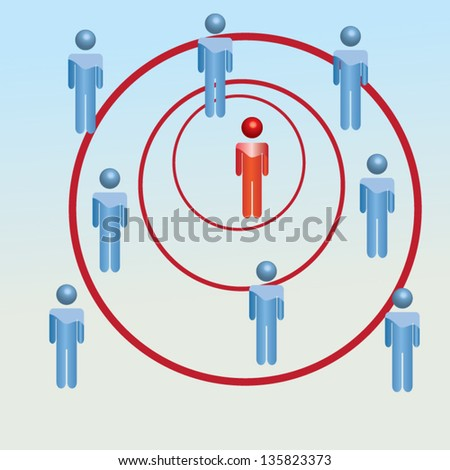 Vector illustration with business concept be different - stock vector