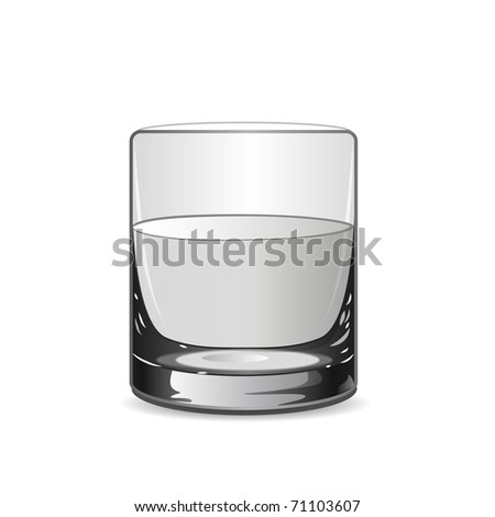 Vector illustration with glass - stock vector