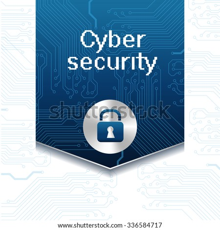 Vector illustration with label for web security and lock icon. Web virus digital protection hacker attack. Protection technology and cloud network security.  - stock vector