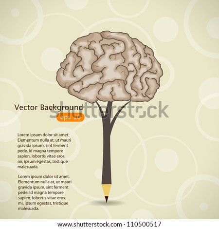 Vector illustration with pencil - stock vector