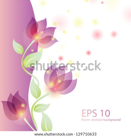 Vector illustration with stylized flowers - stock vector
