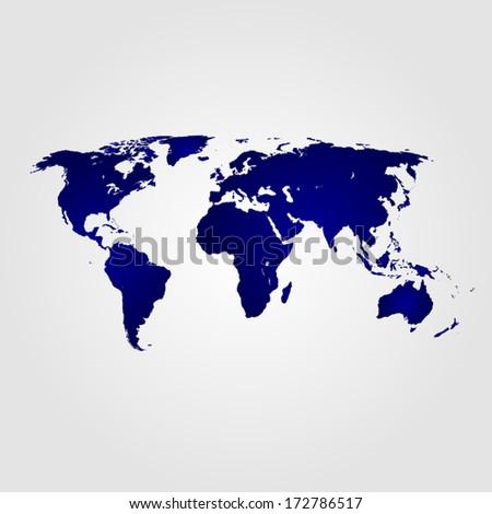 vector illustration world map, silhouette, Modern elements, eps 8 - stock vector
