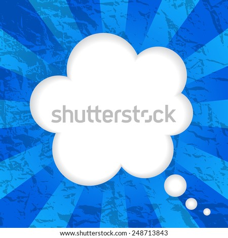 Vector illustrations of decorative old papers background with cloud speech balloon  - stock vector