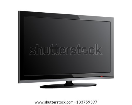 Vector illustrations of lcd screen. File is in eps10 format. - stock vector