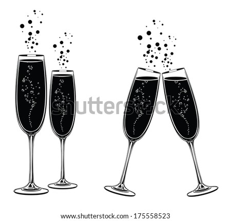 Champagne Glasses Touching