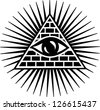 Vector Image - Eye Of Providence - All Seeing Eye Of God - Symbol Omniscience - stock vector