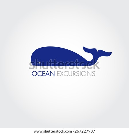 Vector image of a big whale. Whale logo for your business. - stock vector