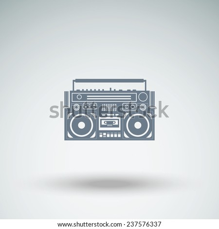 vector image of a classic boombox - stock vector