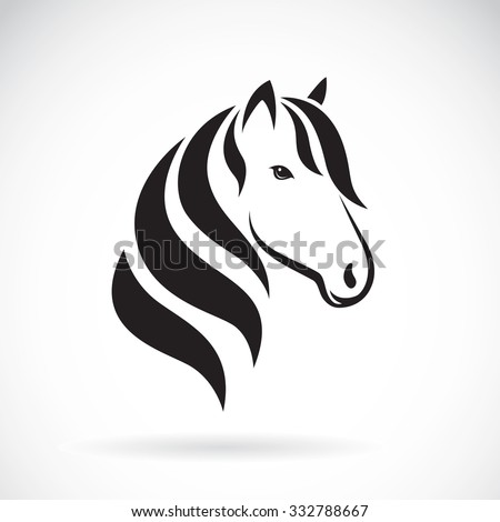 Vector image of a horse head on white background - stock vector