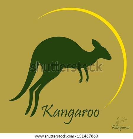 Vector image of a kangaroo - stock vector