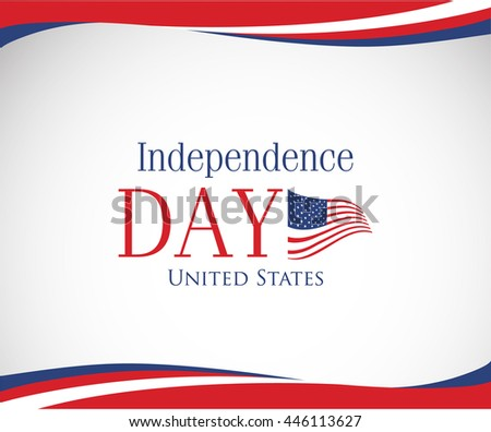 vector image of american flag, USA United States symbol, Independence day background - stock vector