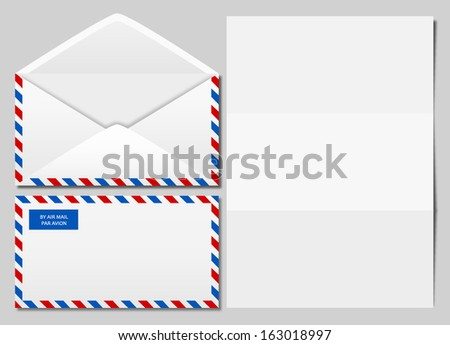 vector image of an airmail envelope - stock vector