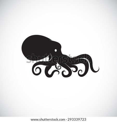 Vector image of an octopus on white background. - stock vector