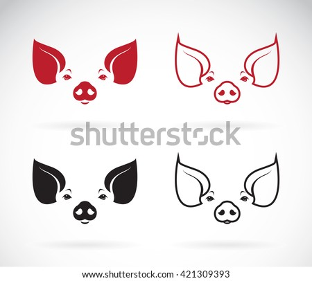 Vector image of an pig design on white background, Pig Logo, Pig Icon, Vector Pig for your design. - stock vector