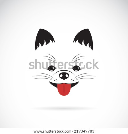 Vector image of an pomeranian dog on white background - stock vector