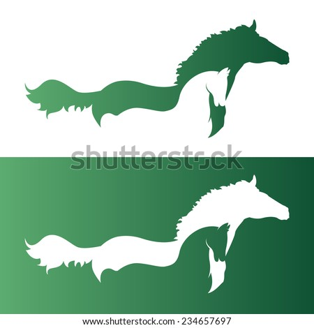 Vector image of an two horse.  - stock vector