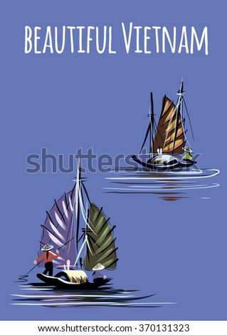 Vector image of beautiful Asia - stock vector