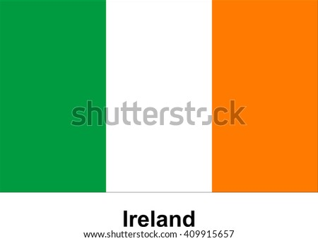 vector image of flag Ireland - stock vector