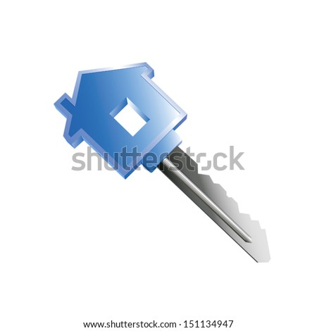 vector image of house key - stock vector