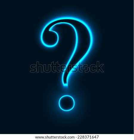 vector image of question mark. Transparency and blend effects used. Color of question mark can be easily changed by changing color of background. - stock vector