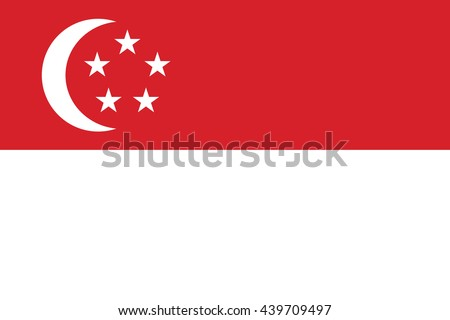 Vector image of  Singapore flag. - stock vector