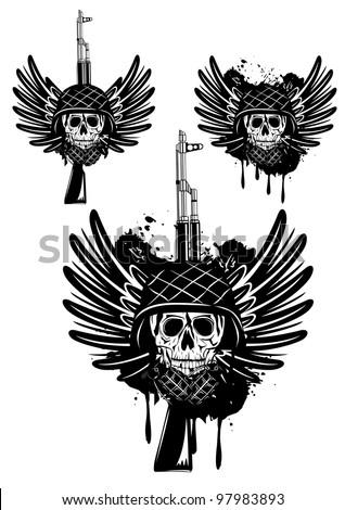 Skull with Guns