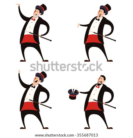 Vector image of the Set of Magicians - stock vector
