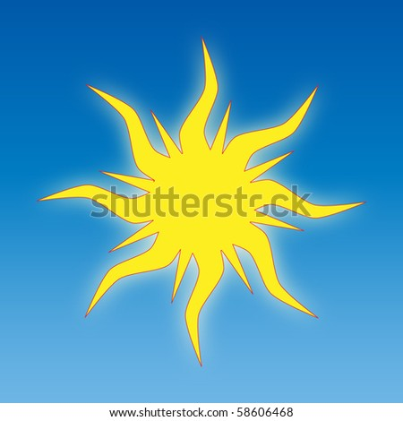 Vector image of the un on a blue background - stock vector