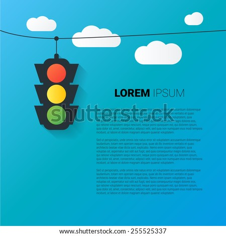 Vector image of traffic light background with place for your text - stock vector