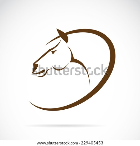 Vector images of horse design on white background. - stock vector