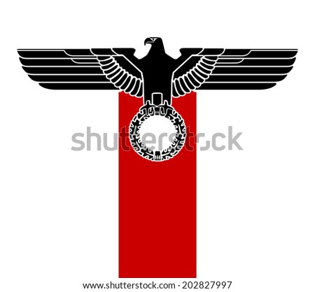 vector Imperial heraldry eagle isolated silhouette gothic - stock vector