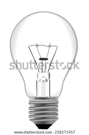 vector incandescent bulbs on white  - stock vector