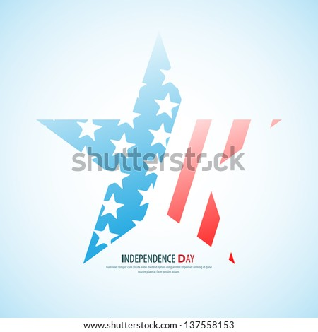 Vector independence day star / poster - retro vintage version - stock vector