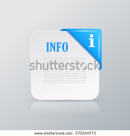 Vector info card with corner ribbon - stock vector