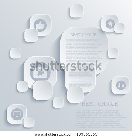 Vector infographic background design. Eps10 - stock vector