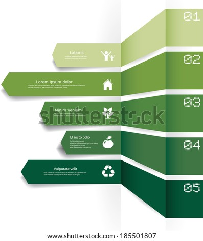 Vector infographic composition with eco elements. - stock vector