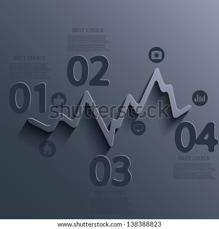 Vector infographic design. Eps10 - stock vector