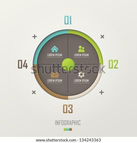 Vector infographic template design - stock vector
