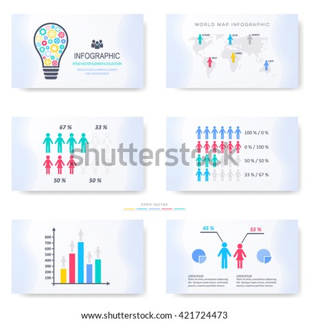 Vector infographic template for presentation slides first part - stock vector