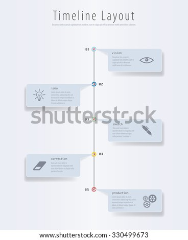 Vector infographic timeline. - stock vector