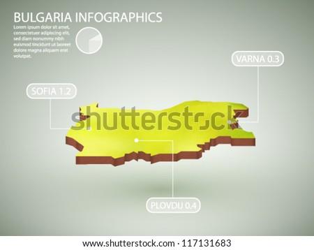 vector infographics of Bulgaria - stock vector