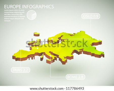 vector infographics of Europe - stock vector
