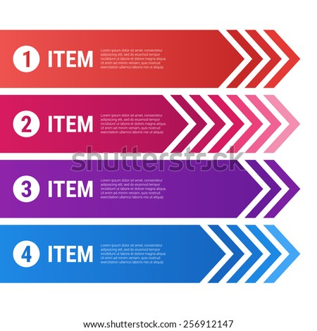 Vector infographics with ribbons and arrows - stock vector