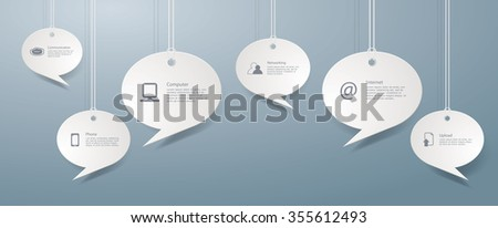 Vector infographics with web and computer icons. - stock vector