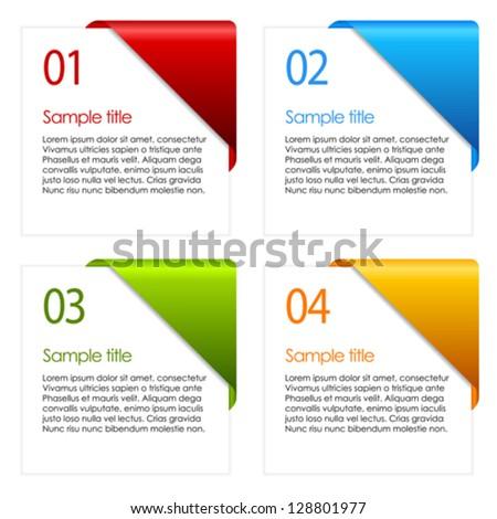 Vector information cards - stock vector