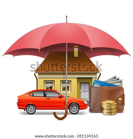 Vector Insurance Concept - stock vector